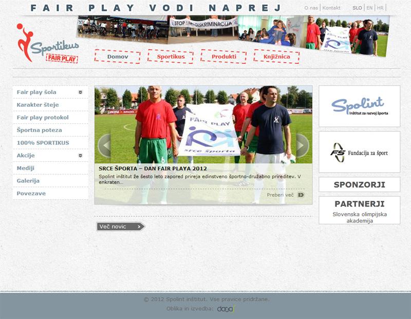Oblikovanje in izdelava spletne strani sportikus.org
