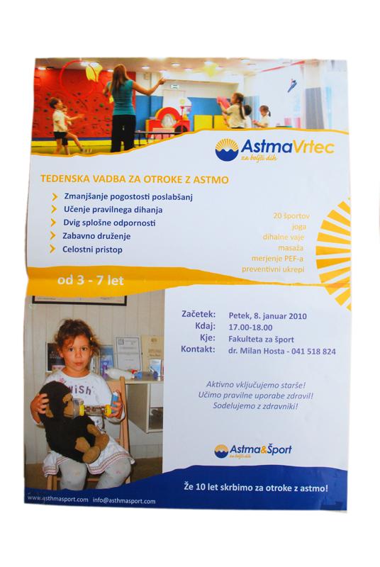 Oblikovanje letaka Astma vrtec