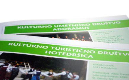 Oblikovanje publikacije Kulturna društva občine Logatec