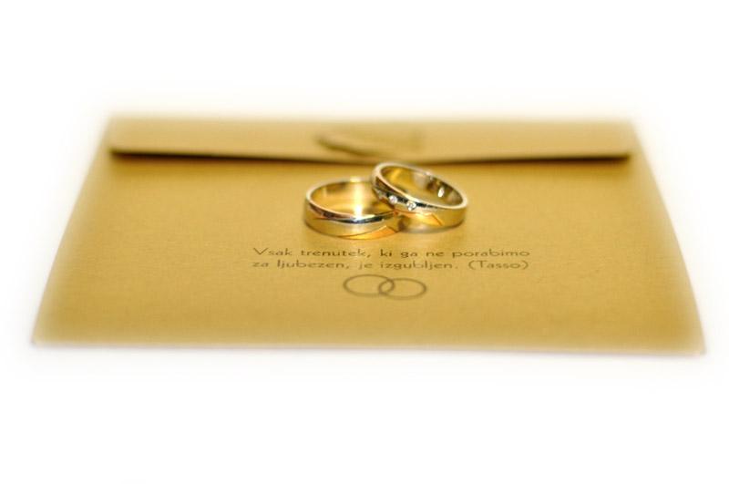 Kuverta vabila za poroko