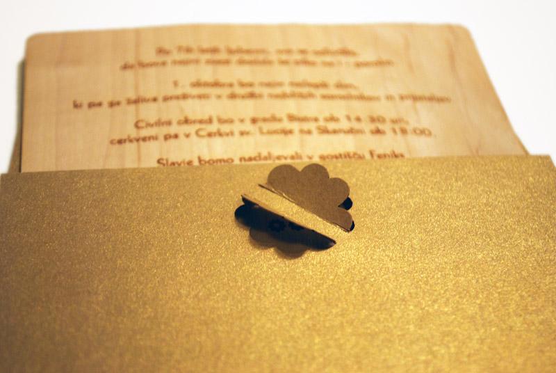 Oblikovanje ovitka in vsebine poročnega vabila