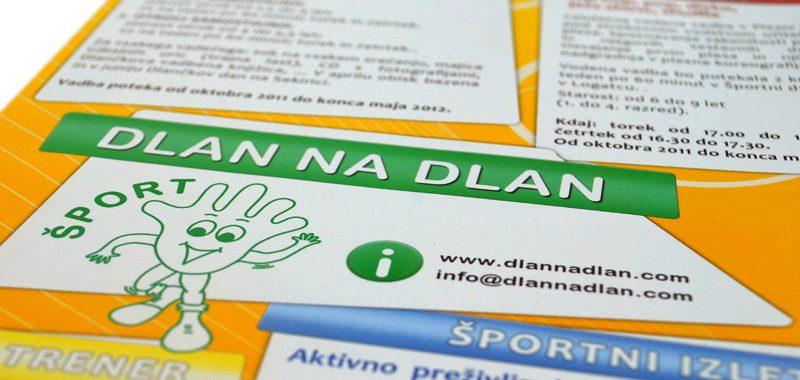 Ideja in oblikovanje Letaka za društvo Dlan na Dlan