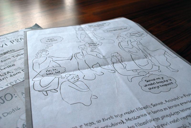 Ilustracija za predstavo Prijazno pečeni prašiči