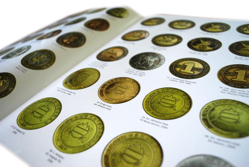 Grafično oblikovanje kataloga Slovenska vojska: Kovanci